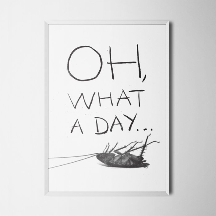 Every Other Day Melancholy Bug Poster