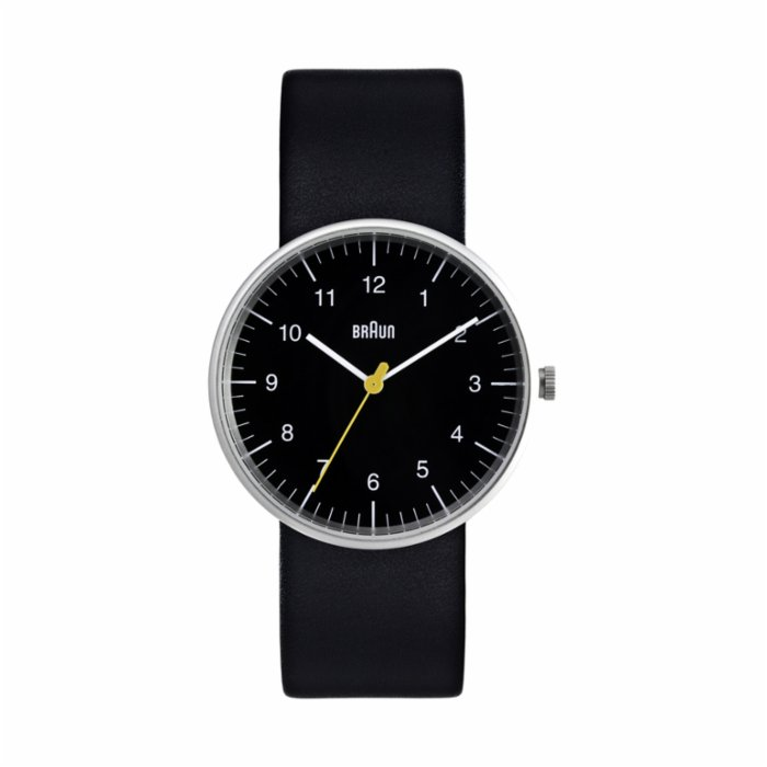 Braun Classic Stainless Steel Watch with Black Band