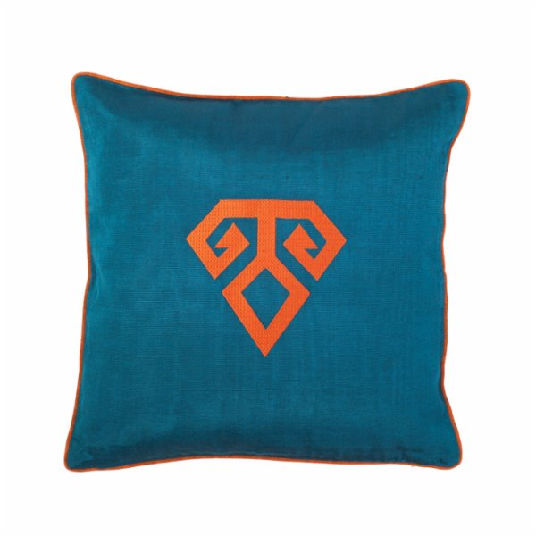 Bohemtolia Hands-on-hips Embroidered Pillow  Cover