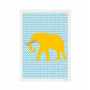 Crocodily  Elephant Yellow Poster