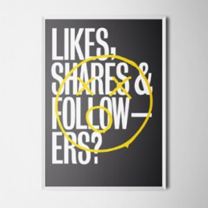 Every Other Day  Like Shares Art Print