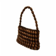 Mien İstanbul  Wooden Beaded Square Hand Bag