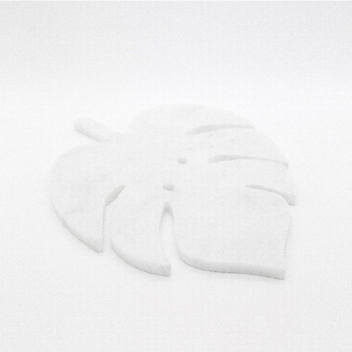 Minval Monstera Marble Plate