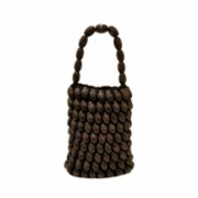 Mien İstanbul  Wooden Beaded Rectangle Hand Bag