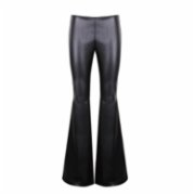 City Ceren Mercanlı  Leather Slash Detailed Trouser