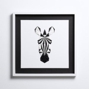 Paperpan	  Zebra the Portrait Artwork