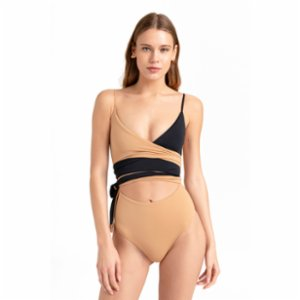 Movom	  Valencia Wrap Swimsuit