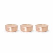Coho Objet	  Matte Smokeless Copper Candle Set of 3