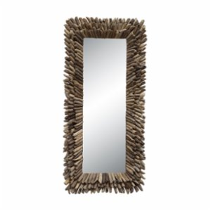 Warm Design	  Wood Particles Mirror