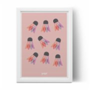 Pop by Gaea  Badminton Print