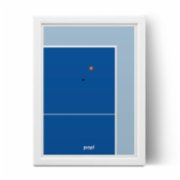 Pop by Gaea  Ping Pong Table Print
