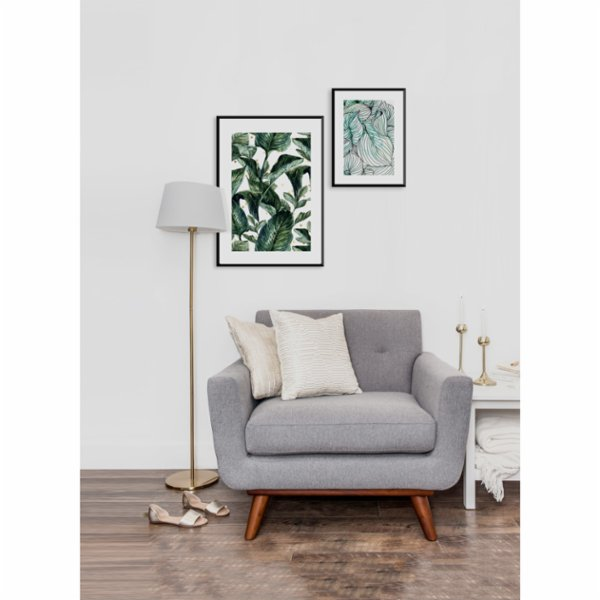 Normmade Green Leaves Print