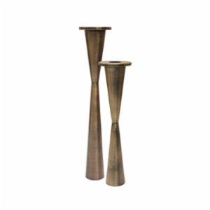 Muhtelif Design  Conic Candleholder Set Of 2
