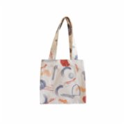 Klue Concept  Abstract Small Tote Bag - Blue