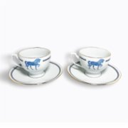 Some Home İstanbul  Horse Luck Blue Tea Cup Set
