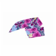Moris  Flowes Patterned Blue Bandana