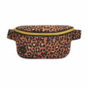Mipac	  Gold Nylon Slim Bum Bag - Leopard