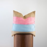 Phoenix Pillows  Colorful Jute Pillow V