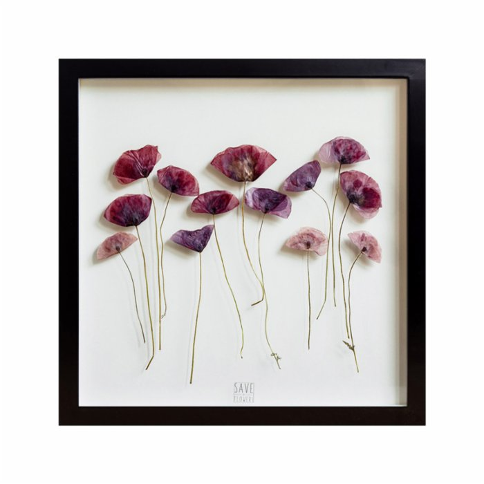 Save The Flowers Glass N07 Black Frame