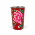 3rd Culture Red  Floral Tumbler
