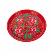 3rd Culture  Red Floral Tray