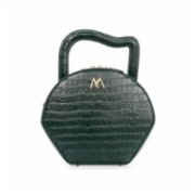Mev's Atelier	  Nora Shoulder Bag Croc Embossed