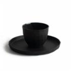 Algon Handcrafted Fine Porcelain Poly Espresso Cup & Poly Saucer Set