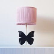 2 Stories  Butterfly Pink Desk Lamp
