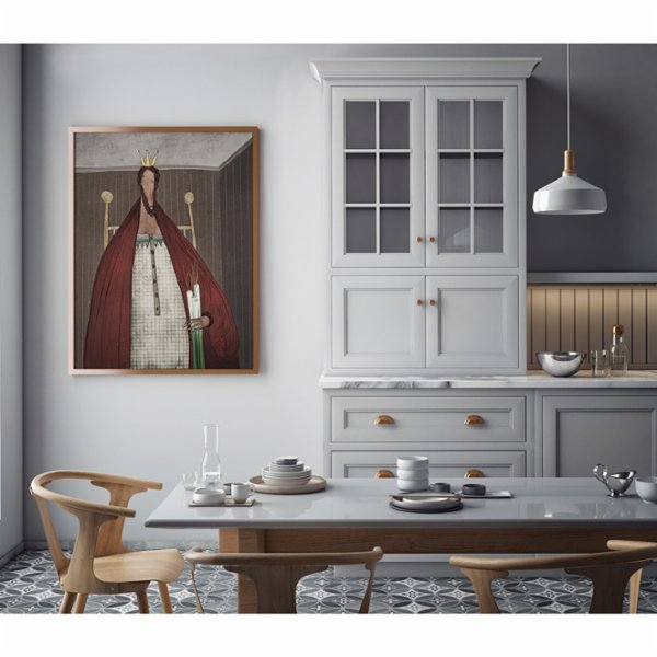 ekinakis Royals And Vegetables The King Canvas