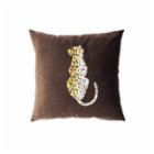 Table and Sofa Leopard Pillow