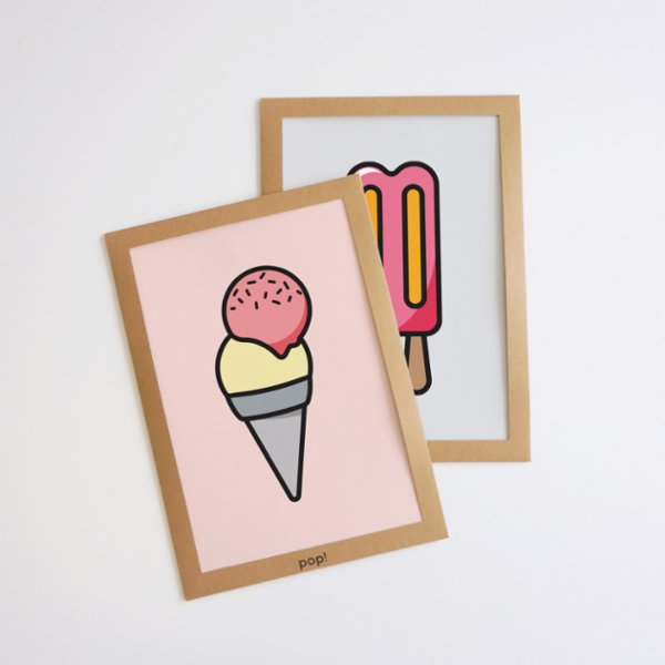 Pop by Gaea Sweet Ice Cream IV Print