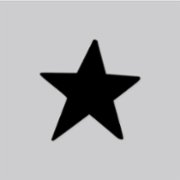 Baluna  Blackstar Big Star Wall Sticker Set