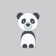 Baluna  Boho Panda Wall Sticker