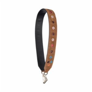 Baa  Brown Suede Colorfull Shoulder Strap