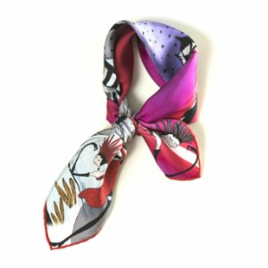 Un Poco  Red Mill Silk Scarf