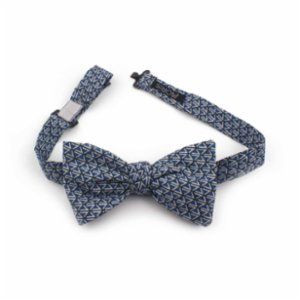 Moris  Geometric Blue Bow Tie