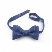 Moris  Blue Stripes Bow Tie