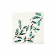 Meri Meri  Festive Leaves & Berries Napkins Small