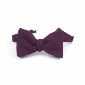 Moris  Dark Purple Bow Tie