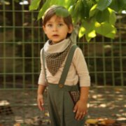 miniscule by ebrar  Bonsai Trousers and Scarf Set