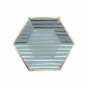 Harlow&Grey  Malibu - Blue Striped Small Paper Plates 8Set