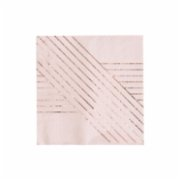 Harlow&Grey  Amethyst - Pale Pink Striped Cocktail Paper Napkins