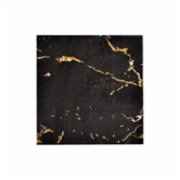 Harlow&Grey  Vanity - Black Marble Cocktail Paper Napkins 20Set
