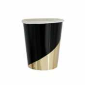 Harlow&Grey  Noir - Black Colorblock Paper Cups 8Set