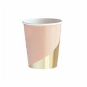 Harlow&Grey  Goddess - Peach Blush Colorblock Paper Cups 8Set