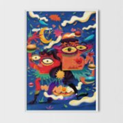 Every Other Day  Night Art Print