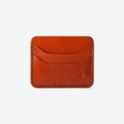 Chivit  Cognac Double 5 Slot Card Wallet