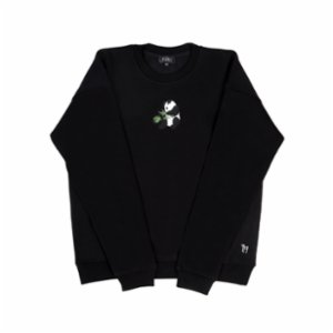 tumu tumu  Panda Embroidered Unisex Sweatshirt