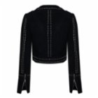 Haze of Monk Studded Suede Classic Jacket