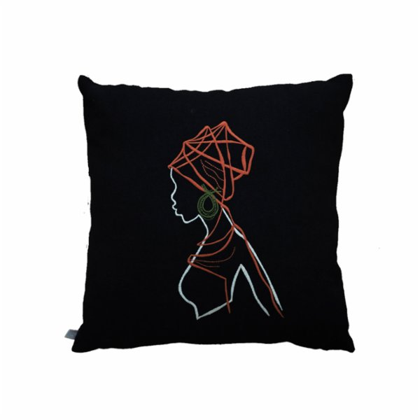 Table and Sofa African Girl Pillow